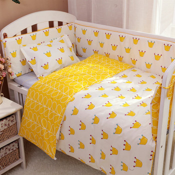 9PCS ropa de cuna Bedding Sets cot bumper cot protector for babies baby girls' cotton cartoon,4bumper/sheet/pillow/duvet