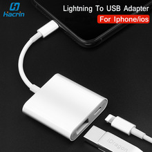 usb otg adapter for iphone ios 13 connector piano midi keyboard connecter with charging port for lightning ipad converter USB Camera Adapter For Apple Lightning To USB 3.0 Adapter With Charging Port U-Disk Converter Card Reader For Iphone 11 X 8 7
