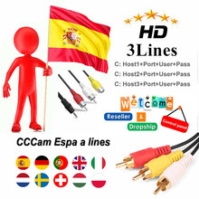 CCCAM Clines for 3 lines 1 years HD Satellite TV Receiver Eu