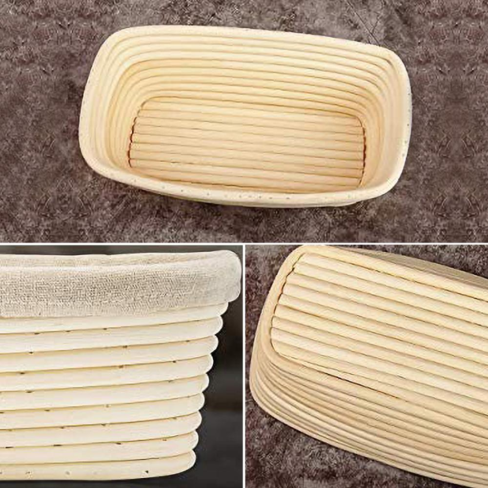 Bread Basket Rattan Oval Round Proofing Food Storage Basket Cookie Baking Food Fruit Tray Dough Container Home Supplies 3 Sizes