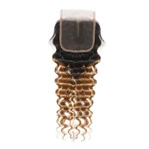 Image 3 - Perruque Lace Closure Deep Wave Non Remy brésilienne KEMY Hair