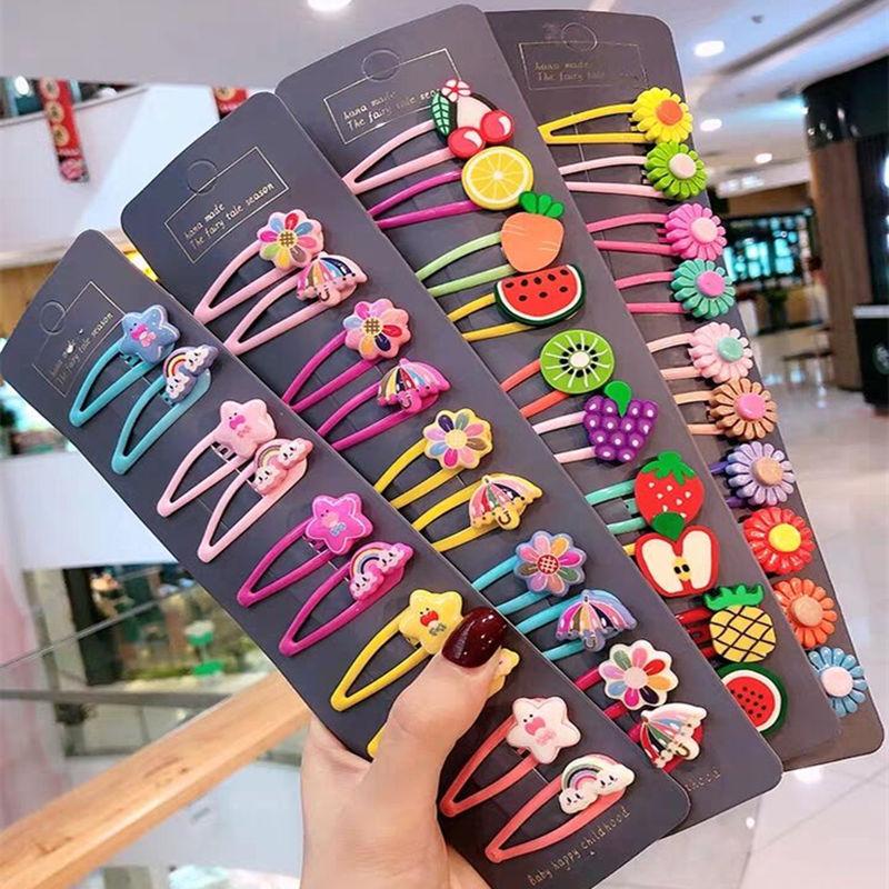 1 Set Cute Princess Fruit Hairpins Children Kids Hair Clips Pins Barrette Accessories For Women Girl Hairgrip Headwear Hairclip