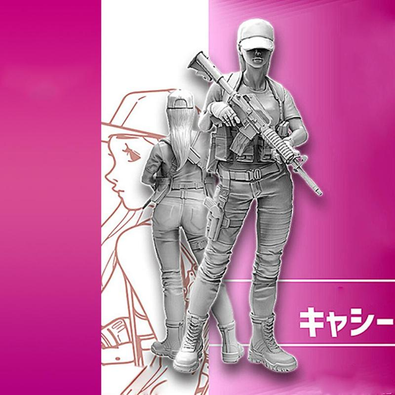 1:35 Beautiful Girl Soldier Series Toys Model Resin Kits Figure Soldier Self-assembled A-053 Children Model Toy