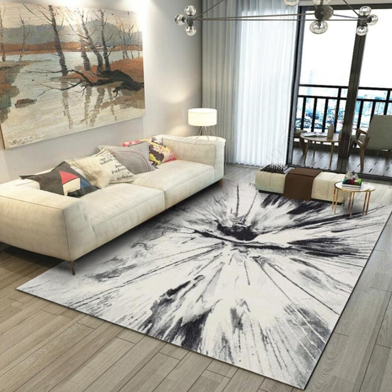 Gray Area Rugs Living Room Large Carpet