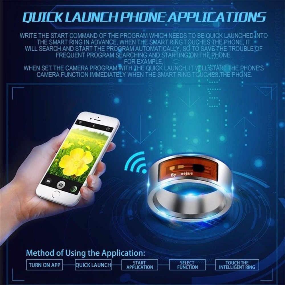Tahan Air NFC Smart Cincin Multifungsi Cerdas Memakai Jari Digital Cincin untuk Ponsel Android Peralatan Cincin