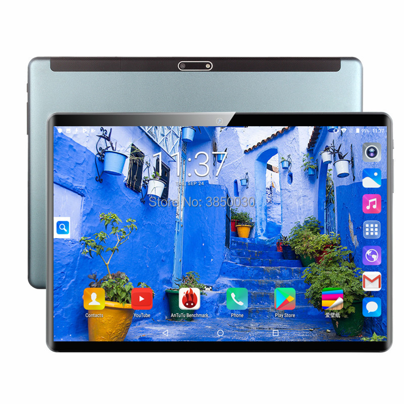Free Shipping Tablet 6G RAM 128G ROM 4G Phone Call Dual SIM Cards 10 Inch 2.5D Glass Android 9.0 OS 2.5D IPS GPS Tablet 10 10.1