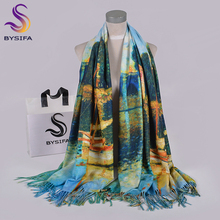BYSIFA bufandas azules de invierno para mujer, Pashmina de Cachemira a la moda, 200x70cm, pañuelo de cuello para mujer, hiyab, Echarpes, chales