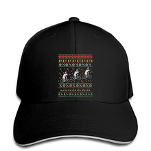 Baseball Cap Men Funny Reindeers Riding Bicycles Christmas Sweater Women Snapback hat peaked(China)