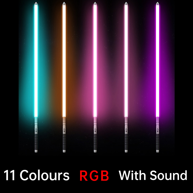 Promotion! New Lights Up Toy With Sound saber Toy 100cm(Handle:27cm Blade:73cm) Length rgb LED Saber Sword Gift Play Adult D106