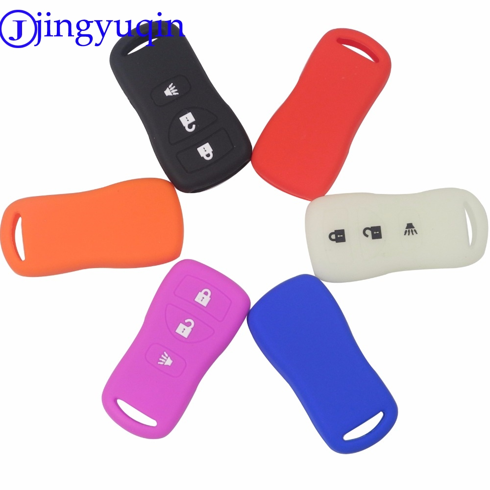 Jingyuqin Remote FOB 2+1 Panic 3 Buttons Key Cover Case Fob For Nissan Armada Xterra Pathfinder Car-Styling