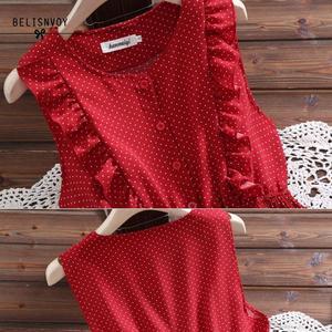 Image 5 - Mori Girl Summer Women Sundress Red White Polka Dot Sleeveless Ruffles Dress Vintage Elegant Chiffon Sweet Lady Pleated Dresses