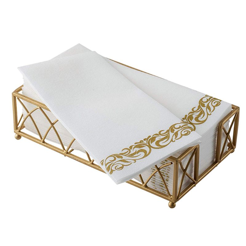 Disposable Hand Towels & Decorative Bathroom Napkins Soft And Absorbent Linen-Feel Paper Guest Towels For Weddings Parties