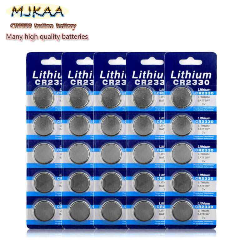 Wholesale 100PCS Original Clock Button Battery CR2330 2330 BR2330 ECR2330 EE6228 Watch Battery image