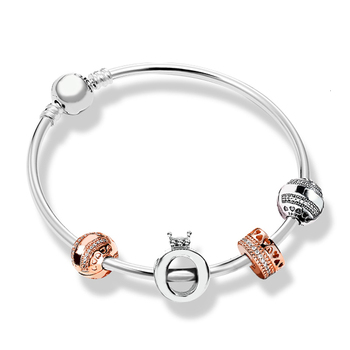 shop 100% authentic 925 silver sterling holiday style charm bracelet luxurious women's bracelet Iove jewellery present