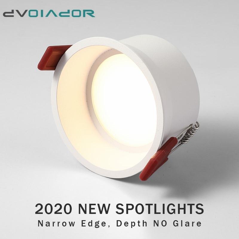 Dimmable LED Downlight 15W 12W Anti-Glare Led Ceiling Lamp AC220V 110V LED Spot Lighting Bedroom Kitchen Led Recessed Downlight