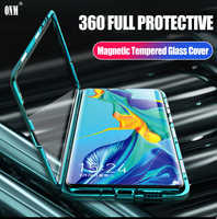 Fall für Huawei P30 Pro 360 ° Volle Schutz Magnetic Cases Abdeckung für Huawei P30 Pro 6,47 Metall doppel Glas fall