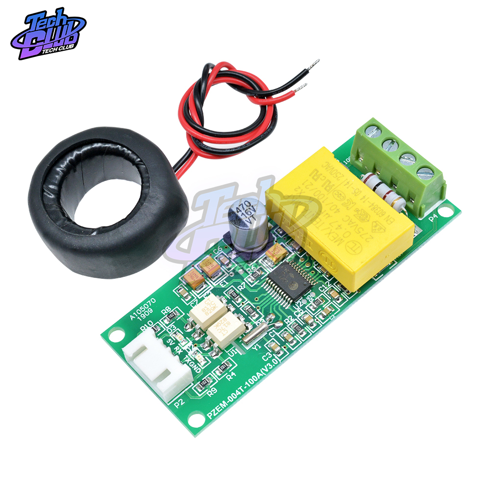 AC Digital Multifunction Meter Watt Power 0-100A Volt Amp TTL Current Test Module PZEM-004T With Coil  80-260V AC For Arduino