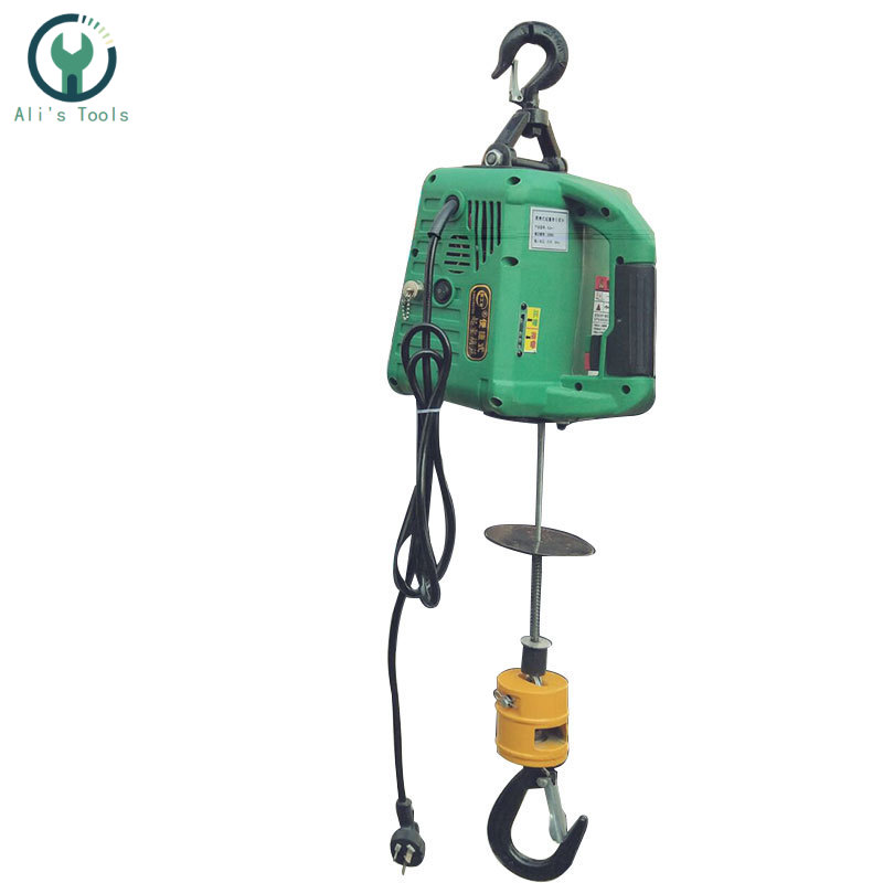 220V Portable Electric Winch 200KGX7.6M 200x19M With Wireless Remote Controller Winch Traction Block Electric Hoist Windlass