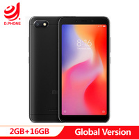 Global Version Xiaomi Redmi 6A 2GB 16GB 18:9 Full Screen MTK Helio A22 MIUI 9 4G LTE AI 13.0MP Face Recognition Smart Phone