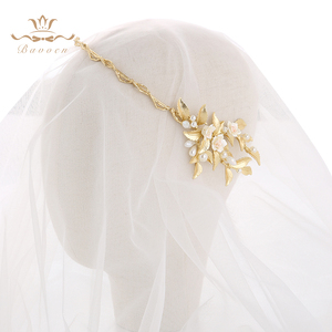 Image 2 - הבארוק כלה מצנפות כתרים אירופאי זהב הכלה Hairabnds Headpieces ריינסטון חתונת שיער אבזרים
