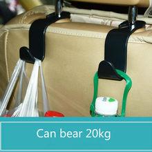 2020 1/2/4 pçs universal assento de carro volta gancho acessórios do carro interior portátil cabide titular de armazenamento para saco de carro bolsa pano