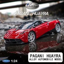 welly 1:24  Pagani adult sports carn    car decoration collection gift toy Die casting model boy toy welly 1 24 pagani huayra 84021