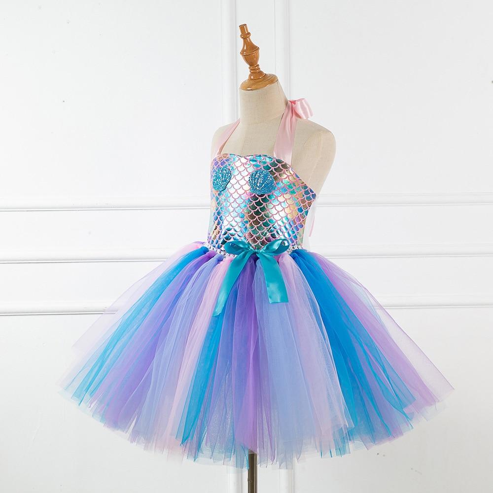 Новое поступление платье русалки для девочек костюм принцессы