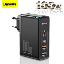 Baseus 100W GaN USB Type C Charger PD QC Quick Charge 4.0 3.0 USB-C Type-C Fast Charging Charger For iPhone 12 Pro Max Macbook