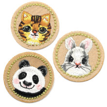 Cartoon Cat Rabbit Panda Cloth Iron on Patches for Clothing Children Women Sewing Accessories Patch Clothes Applique Sticker