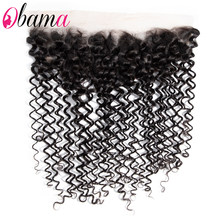 Water Wave 13x4 Frontal Piece Hand Tied Pre Plucked HD Transparent Human Hair Frontal Closure With Baby Hair Natural Color