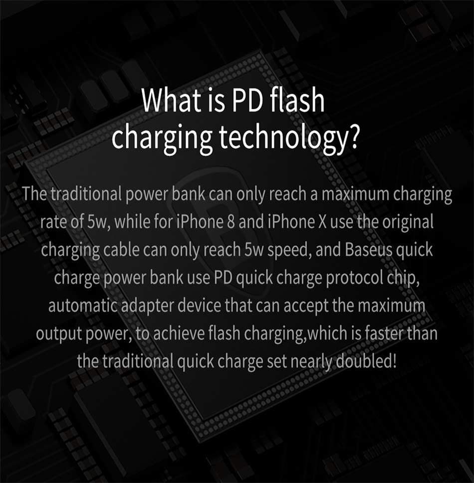 Baseus 20000mAh Quick Charge 3.0 Power Bank For Xiaomi Mi 000 mAh USB C PD Fast Portable External Battery Charger Powerbank 5