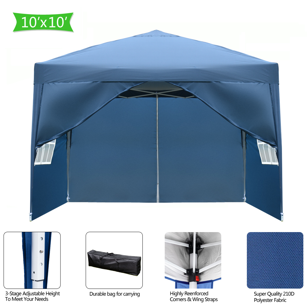 Outdoor Windproof Folding Tent with Two Doors Two Windows WaterProof Oxford Fabric Camping Canopy Outskirts Picnic Gazebo