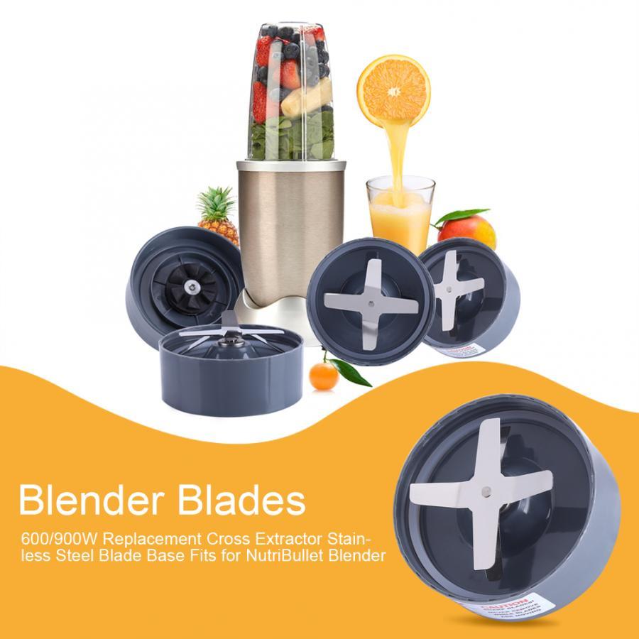 H0a53f3c365d64a999c75111e4a0bf531A 900W Replacement Cross Extractor Stainless Steel Blade Base Fits for NutriBullet Blender