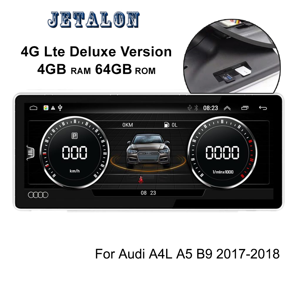 4G Deluxe Version 4+64G Android 9.0 Car GPS For <font><b>Audi</b></font> A4L A5 B9 <font><b>A4</b></font> 2018 Touch Multimedia Stereo Radio WIFI Navigation Head Unit image