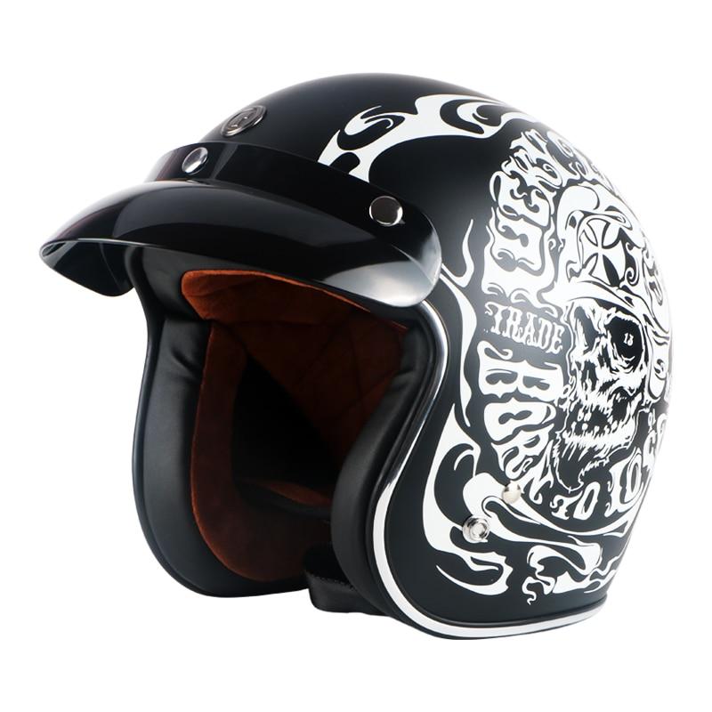 Vintage motorcycle helmet TORC T50 open face helmet DOT approved half helmet Retro moto casco capacete motociclistas capacete