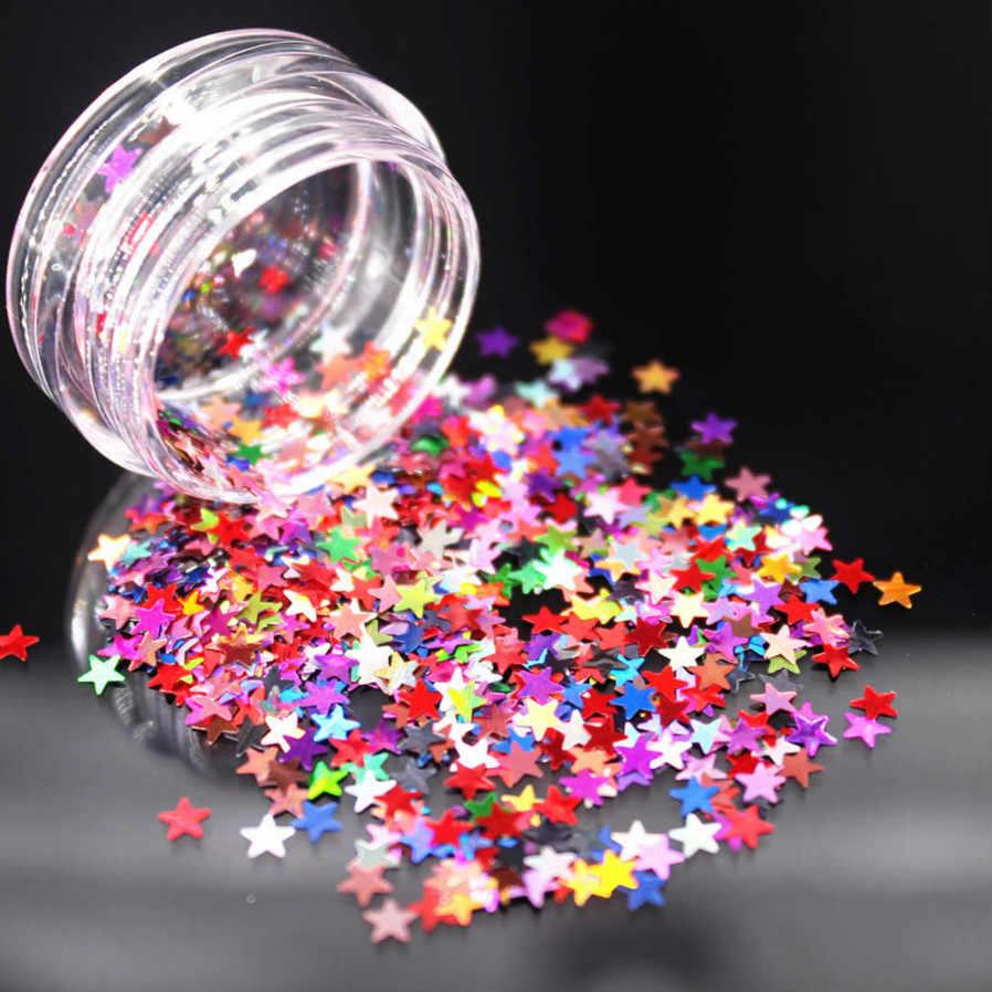 DIY Bergaya Bintang Payet Acrylic Nail Art Kit Manikur Set Nail Glitter Bubuk Dekorasi Akrilik Pena Kuas Nail Art Alat kit
