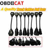Juego completo de 8 Cables de camión para TCS escáner OBD2 Cable de camión OBD conectores de adaptador envío gratis