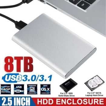 2.5 inch HDD SSD Case Sata to USB 3.0  3.1 Adapter 6 Gbps Box Hard Drive Enclosure Support 8TB HDD Disk For WIndows For IOS