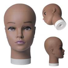 Soft PVC Bald Mannequin Head Holder For Making Hair Styling Wigs and Hat Display Cosmetology Training Manikin Practice Head