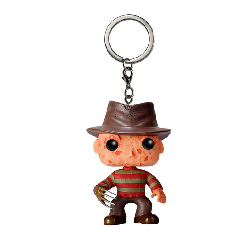 Pocket Keychain Official A Nightmare On Elm Street Freddy Krueger Collectible Figure Model Toys For Children Gift With Box