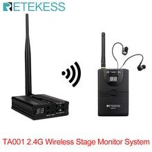 RETEKESS беспроводной сценический монитор система цифрового сценического внутриканального монитора 1 передатчик+ 1 приемник для Группы Певца muscian