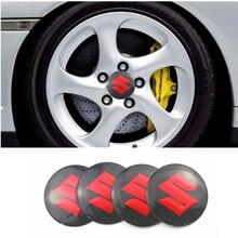 Para Suzuki Swift SX4 Vitara Jimny S-CROSS Swift 2007 2008, 2018 4 Uds coche tapas de cubo de rueda emblema pegatinas insignia de estilo de coche