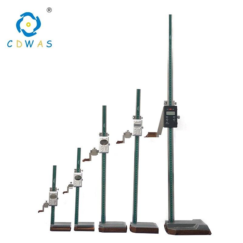Jauge de hauteur numérique 0-300 200 500 600 1000 étrier en acier inoxydable électronique numérique hauteur pied à coulisse outil de mesure