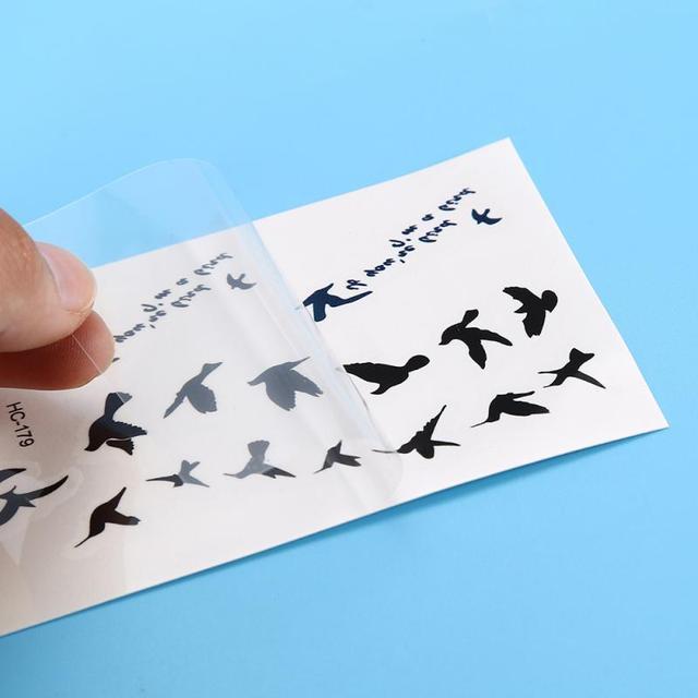 Temporary Tattoo Sticker Waterproof  Disposable  fly Bird Design Women arm leg Wrist Foot hand Art Tattoo 1