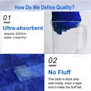 Image 4 - Toalla de microfibra para el cuidado del coche, 40x50cm, toalla de lavado y secado de felpa, paño de limpieza de coche de poliéster de peluche grueso