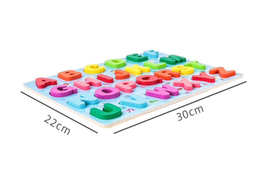 Kids 3D Wooden Puzzle Toys Colorful Number Letter Geometry Shape Cognition Grasp Board Early Learning Educational Montessori Toy 4