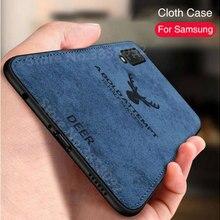 Роскошный мягкий чехол из ТПУ с тканевый чехол для телефона для samsung Galaxy A30 A50 A6 A7 A8 M20 Чехлы для задней панели для Galaxy A90 A80 A70 A40 A20 чехлы