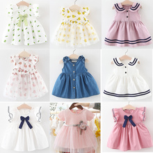 Baby Girls Dress 2021 Summer Cute Cartoon Baby Princess Birthday Party Mesh Dresses Costume Toddler Infant Kids Clothing