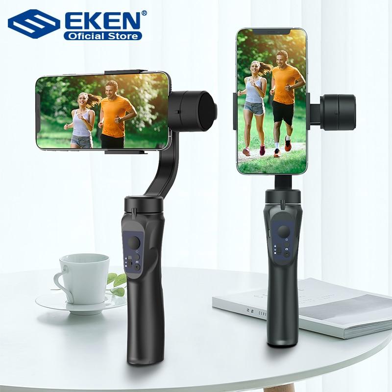 EKEN H4 3-осевой стабилизатор карманного устройства мобильного телефона с функцией видеозаписи смартфона Gimbal для действия Камера чехол для те...