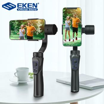 EKEN H4 3 osi stabilizator ręczny telefon komórkowy nagrywania wideo Smartphone Gimbal dla kamera akcji telefon tanie i dobre opinie 3-osiowy Akcja foto kamery SMARTPHONES CN (pochodzenie) bluetooth Handheld gimbal Po tryb fotografowania 6 4 inch Z włókna węglowego